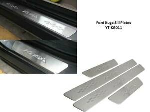 FORD KUGA DOOR SILL PLATE STAINLESS STEEL WITH LOGO  - YT- KG011