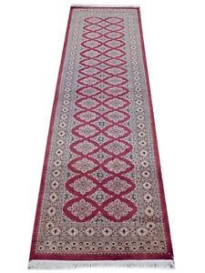 Genuine Handmade Red kitchen carpet runner Bokara 2' 8'' x 8' 4'' Silken Rug