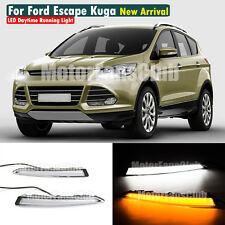 LED Daytime Running Light For Ford Escape Kuga DRL 2013 2014 2015 Turn Signal