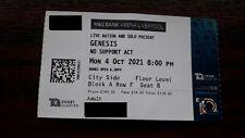 Genesis The last Domino live Liverpool 2021 VIP ticket stub MINT CONDITION