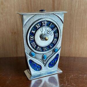 Pewter Enamel Clock AK39 - AE Williams UK - Art Nouveau Archibald Knox Style New