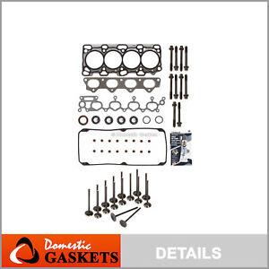 Head Gasket Set Intake Exhaust Valves Fit 01-05 Dodge Chrysler 2.4L 4G64