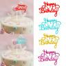 10PCS Glitter Paper Happy Birthday Cake Topper Cupcake Dessert Decor Supplies
