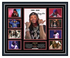 KING VON TRIBUTE WELCOME TO O'BLOCK SIGNED LIMITED EDITION FRAMED MEMORABILIA