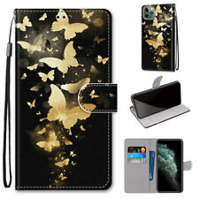 Golden Swarm Butterfly Mystic Hot Flip Wallet Stand Case Cover For Various Phone
