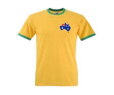 Camiseta de fútbol de selecciones nacionales de manga corta en amarillo