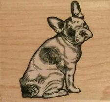 NEW Stampabilities French Bulldog Wood Mounted Stamp Dog Pet #1402916-G
