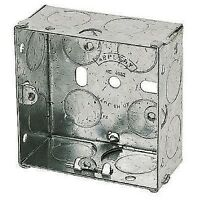 Single Metal Back Box 47mm Extra Deep 1Gang for Cooker