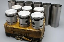 Studebaker Dictator 3569cc Pistons & Cylinder Liners / Sleeves --NEW--