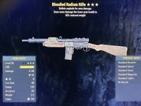 Bloodied Explosive Radium Rifle Fallout 76 PS4