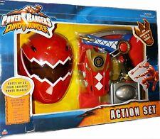 """Power Rangers Dino Thunder Training Set New 9"""" Mask 10"""" Rapter Gun sword Costume"""