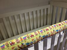 Reversible Baby Cot Crib Teething Rail Cover Protector ~ Animal Train