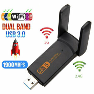 Dual Band 1900Mbps 2.4+5GHz USB Wireless Wifi Adapter 802.11AC Network Card ZBLY