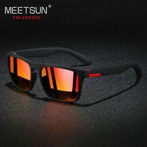 Square Polarized Sunglasses for Men Women Outdoor Sports Driving Glasses UV400