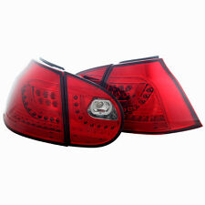 Tail Light For 06-09 Volkswagen  Golf / GTI  Chrome / Red Lens PAIR
