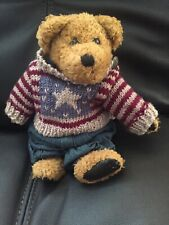 Boyd Bear Eddie Bean Bauer Patriotic Stuffed Animal Preowned
