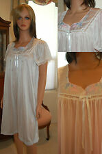 VINTAGE SOFT SHEER NYLON NIGHTGOWN IN COLORS & SIZES, BY CAROLE, TO  XXXL, #3418