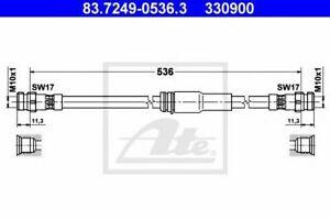 Flexible de frein AUDI A3 (8P1) A3 Sportback (8PA), VW CC (357) PASSAT (3C2) PAS