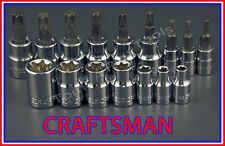 CRAFTSMAN 16pc LOT 1/4 3/8 Torx / Star E External bit ratchet wrench socket set