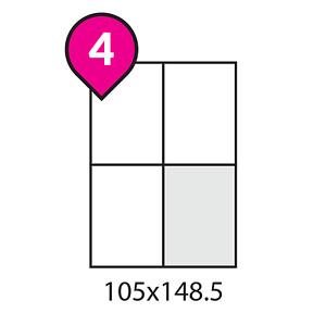 A4 4xA6 Address Labels White Sheets Sticky Self Adhesive Inkjet / Laser Printer