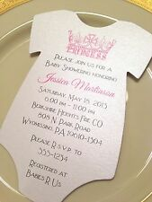 Baby Shower Invitation Princess Tiara For Girl Printed on Metallic Paper