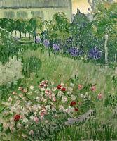 Daubignys Flower Garden Vincent Van Gogh Fine Art Print Canvas Repro Small 8x10
