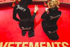 VETEMENTS X JUICY COUTURE HODDED VELOUR SWEATER MEDIUM