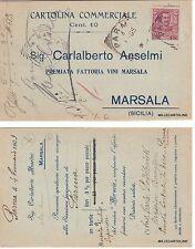 # MARSALA: testatina -CARLOALBERTO ANSELMO - fattotia vini marsala   1905