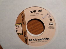 """PROMO SOUL CITY 45 7"""" RECORD/5TH DIMENSION /PAPER CUP/POOR SIDE OF TOWN/ EX"""