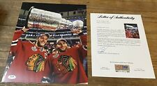 PATRICK KANE/JONATHAN TOEWS DUAL SIGNED CHICAGO BLACKHAWKS 11X14 PHOTO PSA LOA