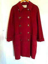 ABSOLUTELY BEAUTIFUL!! Slightly Vintage Red Woollen Coat - From Jaeger - Size 16