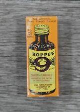Vintage Hoppe's No. 9 Nitro Powder Solvent Box and Bottle (Gun Cleaner)