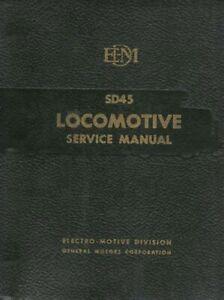SD45 Locomotive Service Manual EMD 1968