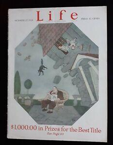 Rea Irvin Cover Art Life Humor Magazine 10/27 1921 Full Issue