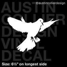 "6.5"" DOVE vinyl decal car window laptop sticker peace christian bird symbol USA"