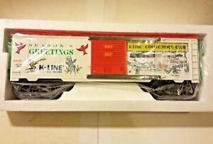 K-Line Collectors Club Seasons Greetings XMas 1993 O/O27 Scale Box Car K90004
