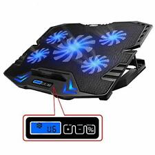 TopMate C5 12-15.6 inch Gaming Laptop Cooler Cooling Pad, 5 Quiet Fans