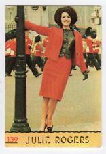 figurina CANTANTI PANINI 1968 REC numero 139 JULIE ROGERS