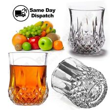 More details for clear crystal glass drinking liqueur tumbler cocktail whisky glasses drink 4.5cl