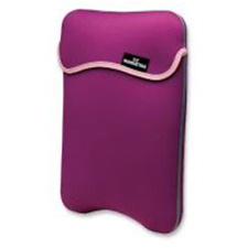 "Second skin - Sleeve reversibile per Netbook, Tablet 9"" Viola/Panna"