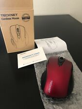 TeckNet Classic 2.4G Portable Optical Wireless Mouse FOR PARTS! MISSING RECEIVER