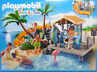 PLAYMOBIL 6979 Karibikinsel mit Strandbar Rutsche Kinder Palmen Schildkröte NEU