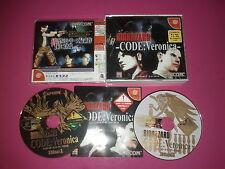 Bio Hazard Code Veronica Sega DreamCast  - manque fourreau -JAP