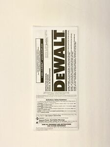 DeWalt Instruction Manual Only DCD780 20V  Max Cordless Compact Drill Driver