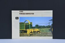 John Deere 3765 forage harvester tractor brochure 6 pages from 1986