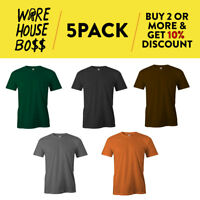 5 PACK AAA 1301 ALSTYLE MENS PLAIN SHORT SLEEVE T SHIRT CASUAL SHIRTS COTTON TEE