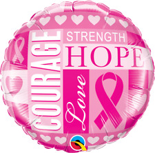 Breast Cancer Awareness Inspirations Latex Free Foil Mylar Balloons 3 pack