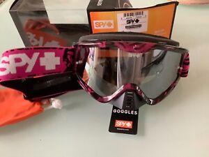 Spy + whip mx goggle love bites pink smoke silver mirrorlens MTB free nose guard