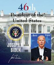 Nevis 2021 - President Joe Biden - 46th President of USA - Souvenir Sheet - MNH