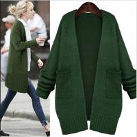 Womens loose Long Korea Sweater Knitting Cardigan jacket Coat Outwear Fashion